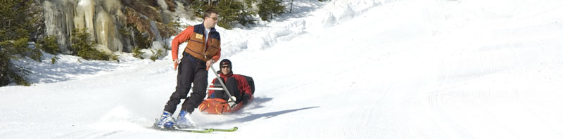 Jep Peacock running sled